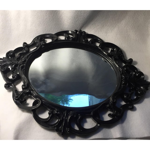 Black Lacquer Wall Mirror - Image 3 of 5