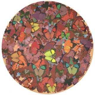"Nicolette Mayer Mariposa Ochre 16"" Round Pebble Placemats, Set of 4 Preview"