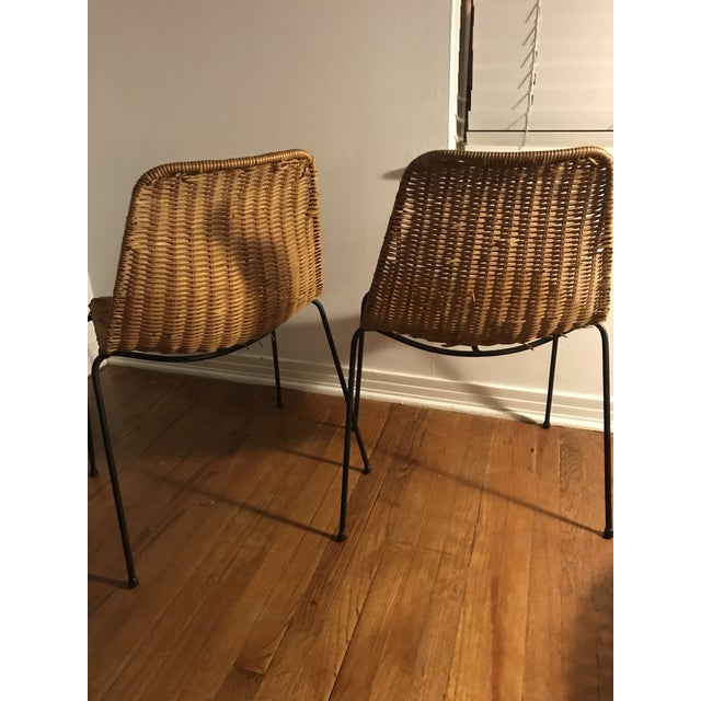 1960s Vintage Campo Graffi Wicker Armless Chairs - A Pair - Image 2 of 8