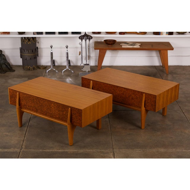 Mid-Century Modern Single Bench With Storage by John Keal for Brown Saltman For Sale - Image 3 of 12