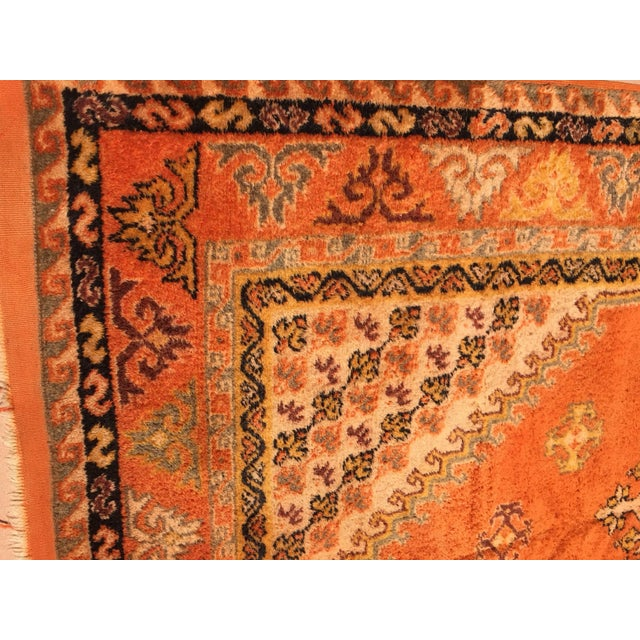 Orange Vintage Mid Century Moroccan Orange Tribal African Pile Rug- 6′7″ × 16′5″ For Sale - Image 8 of 12