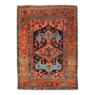 "Pasargad NY Antique Persian Bidjar Hand-Knotted Rug - 4'4"" x 5'11"" For Sale"