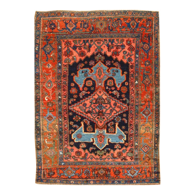 """Pasargad NY Antique Persian Bidjar Hand-Knotted Rug - 4'4"""" x 5'11"""" For Sale"""