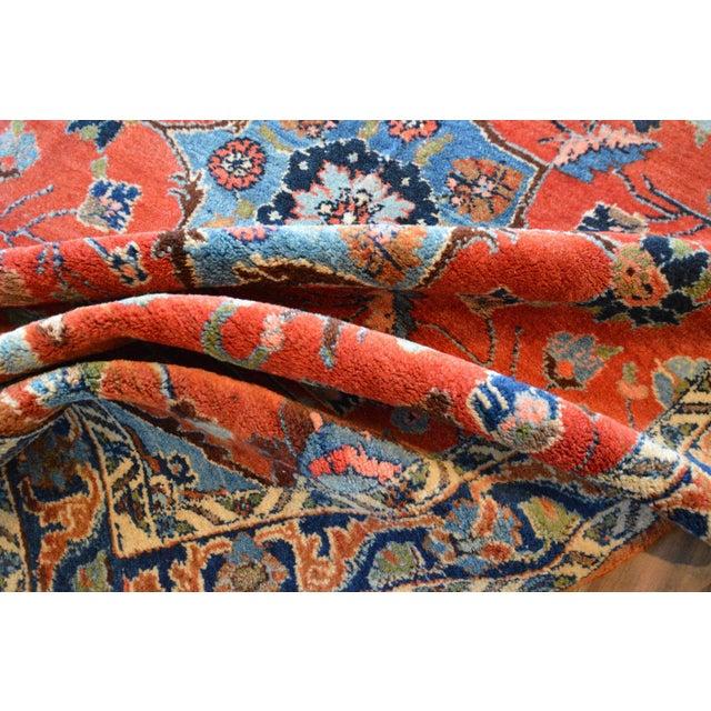 "Cotton Vintage Persian Lilihan Rug - 4' x 5'11"" For Sale - Image 7 of 11"