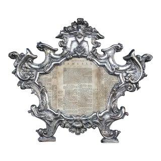 18th Century Repousse Baroque Ecclesiastical Carta Gloria For Sale