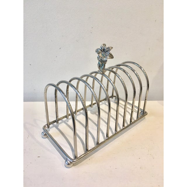 Silver-Plate English Toast Rack For Sale - Image 4 of 5