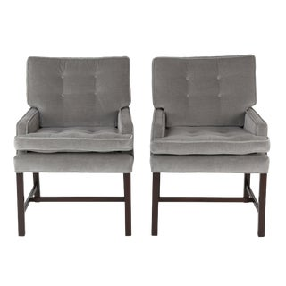 1950's vinage HARVEY PROBBER FOR DIRECTIONAL ARMCHAIRS- a pair For Sale
