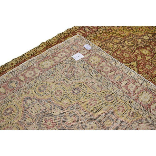 20th Century Rustic Turkish Oushak Accent Rug - 4′4″ × 6′10″ For Sale - Image 4 of 7