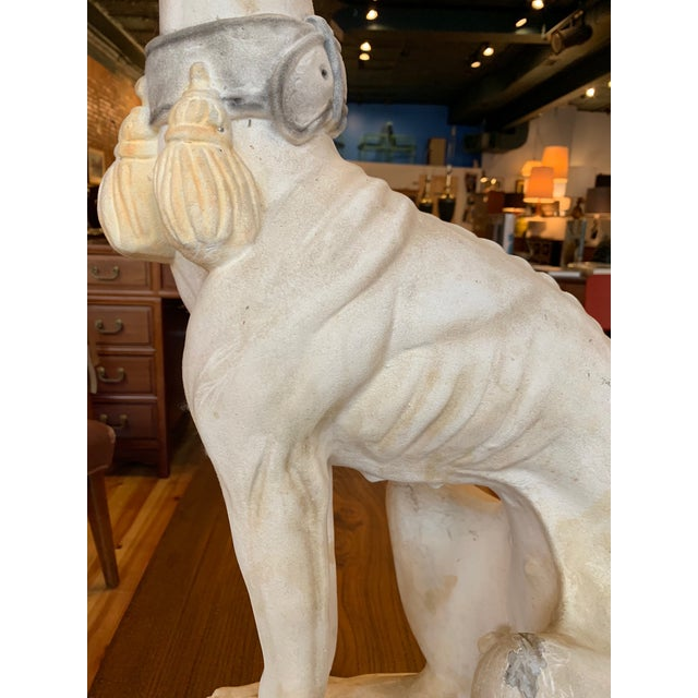 White 1950s Vintage Italian Whippet Statue For Sale - Image 8 of 10