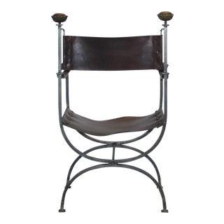 20th Century Gothic Revival Savonarola Accent Chair