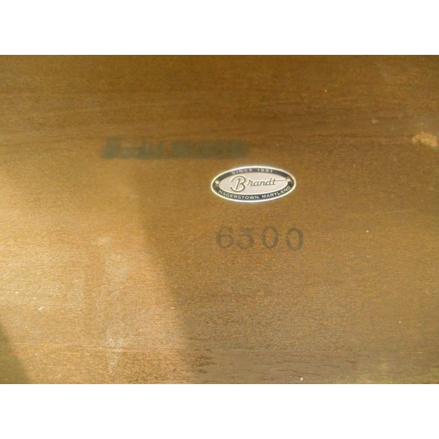 Vintage Brandt Burl Wood Inlay Oval Coffee Table For Sale - Image 7 of 7