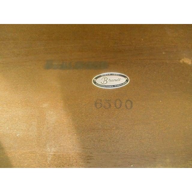 Vintage Brandt Burl Wood Inlay Oval Coffee Table - Image 7 of 7