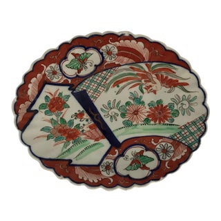 Oval Scalloped Imari Platter For Sale