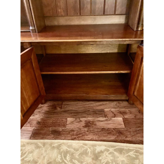 Wood Cherry Triple Bookcase Breakfront Cabinet by Henredon For Sale - Image 7 of 13