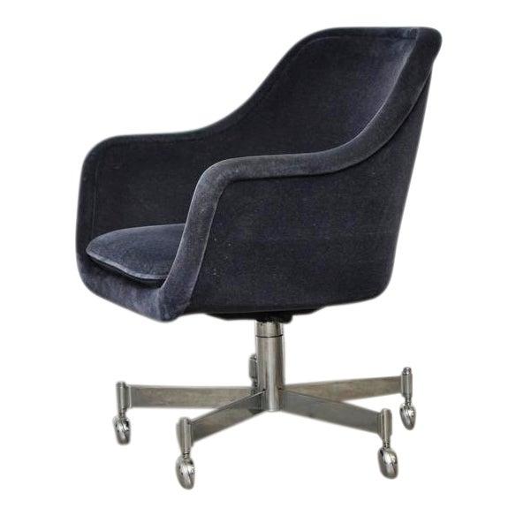 Ward Bennett Desk Chair in Mohair - Image 1 of 7