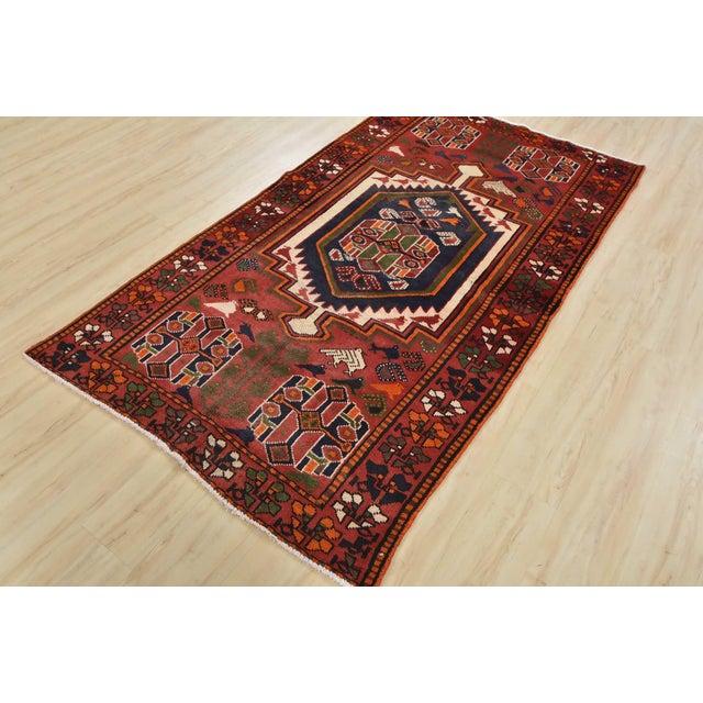 Tribal Vintage Persian Luri Rug- 4′1″ × 7′5″ For Sale - Image 3 of 13