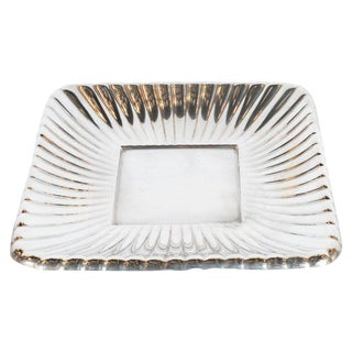 Art Deco Sterling Silver Rectangular Sunburst Tray by Reed & Barton For Sale