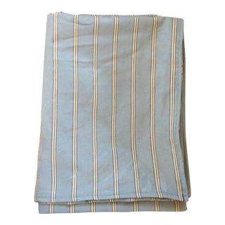 Gray Blue Striped Fabric 3.25 Yards
