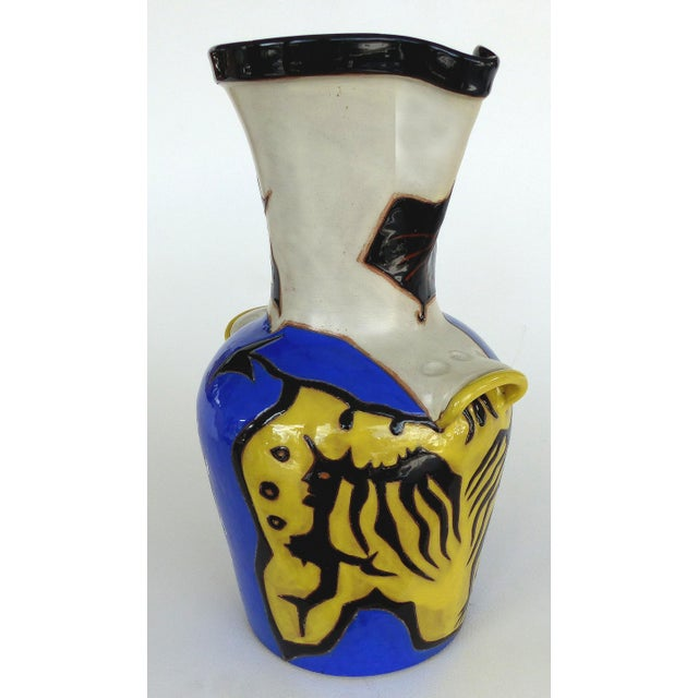 Jean Lurçat French ceramic Mid-Century Vase 22/50 Offered for sale is a limited edition number 22 from an edition of 50...