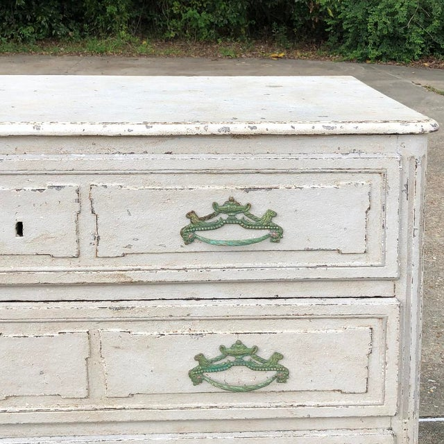 White 18th Century French Louis XVI Painted Commode For Sale - Image 8 of 12