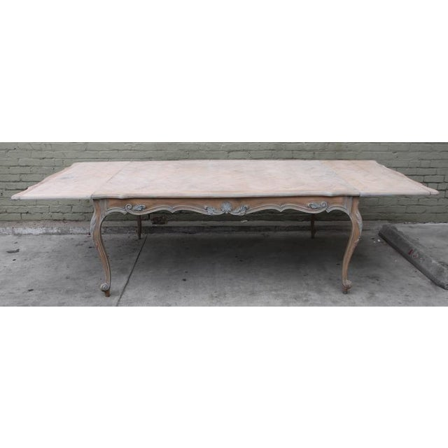 French Painted Louis XV Style Dining Table Chairish