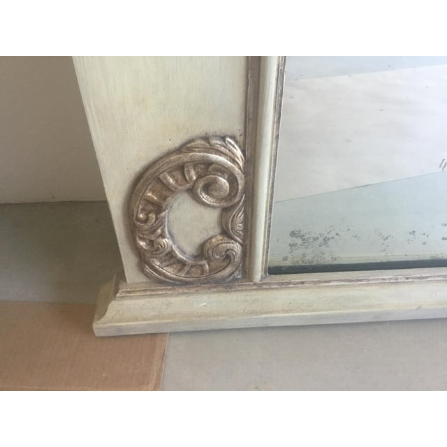 Contemporary Antiqued Silver Fireplace Mirror For Sale In Los Angeles - Image 6 of 9