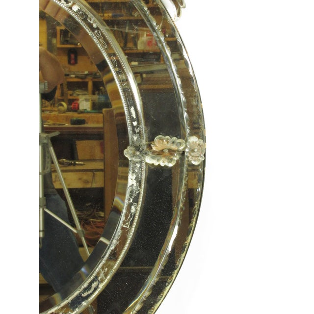 Silver Venetian Cut Glass Wall Mirror For Sale - Image 8 of 8
