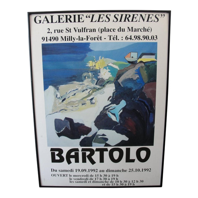 1992 Galerie Les Serine Poster by Bartolo - Image 1 of 7