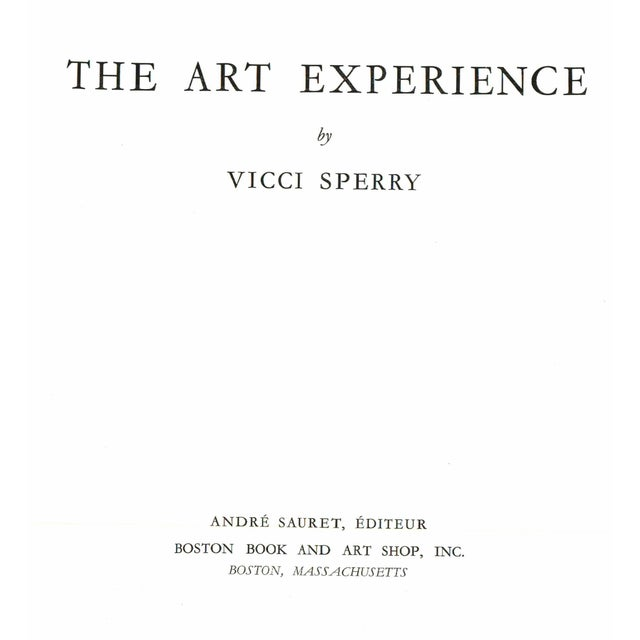 The Art Experience by Vicci Sperry. Boston, Massachusetts: Boston Book and Art Shop, 1969. Hardcover in clear wrap. 92 pages.