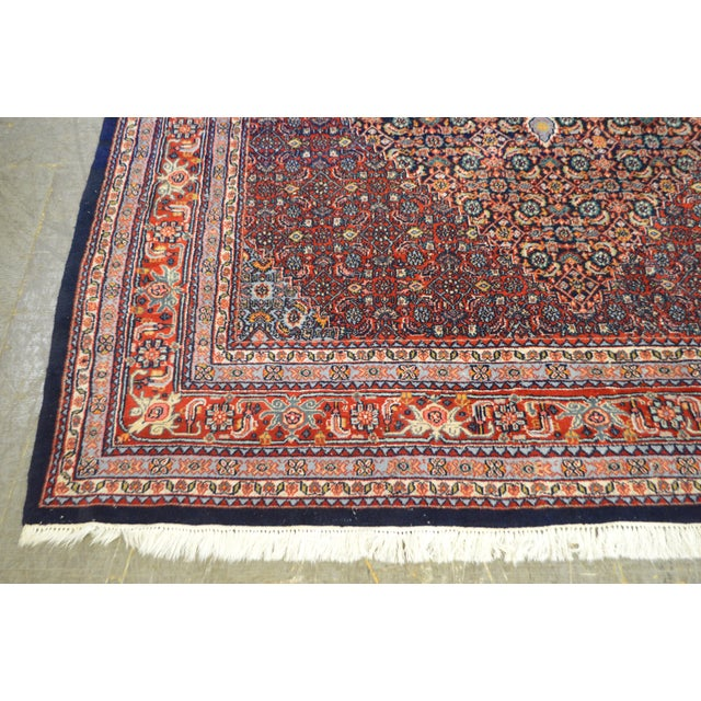 Farahan Sarook Blue Hand Knotted Persian Oriental Room Size Rug Carpet -- 9' x 11' - Image 5 of 10