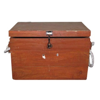 Marine Chest With Rope Handles For Sale
