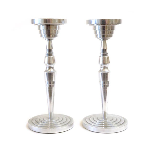 Industrial Silver Candlesticks - a Pair - Image 1 of 5