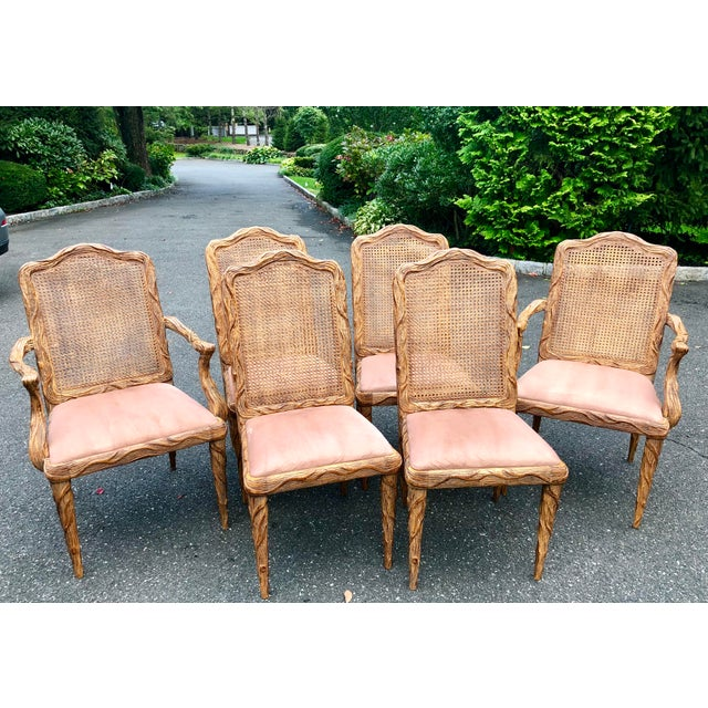 Faux Bois Dining Chairs - Set of 6 For Sale - Image 13 of 13