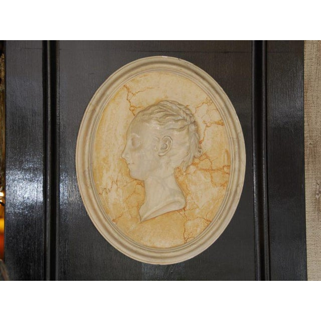 Vintage English Plaster Bust Relief - Image 2 of 4