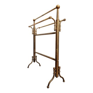 Brass Towel / Blanket / Quilt / Scarf Stand/Rack For Sale
