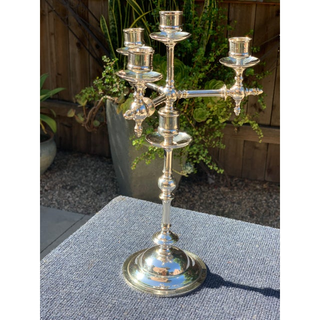 Fraget N Plague Polish Aesthetic Movement Silver Plate Candelabra For Sale - Image 9 of 10