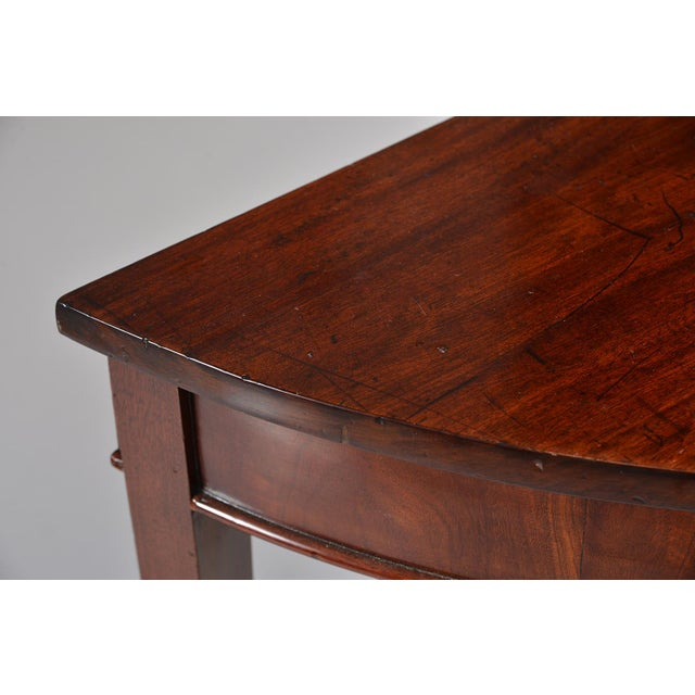 English Mahogany Demi Lune Tables - a Pair For Sale - Image 10 of 13