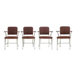 Midcentury Goodform Aluminum Armchairs by the General Fireproofing Co. - a Set of 4 For Sale