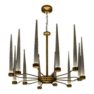 English Brass Icicle Ceiling Light For Sale