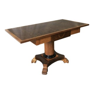 Danish Biedermeier Style Birchwood Drop-Leaf Table For Sale