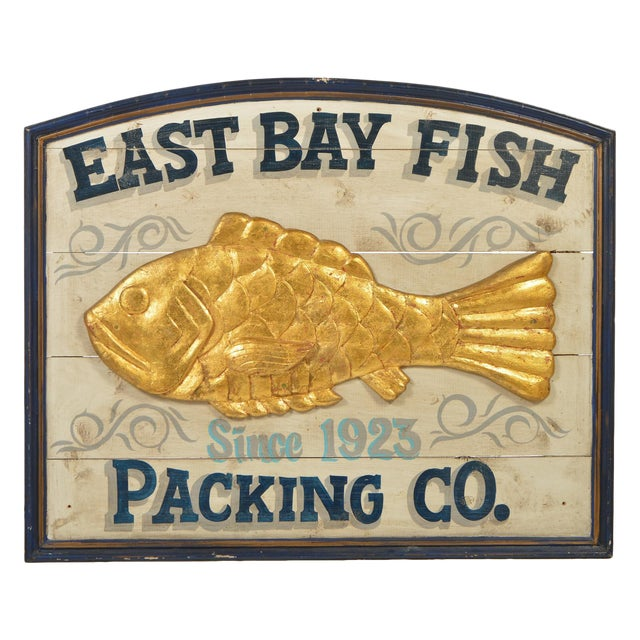 East Bay Fish Packing Company Trade Sign For Sale - Image 11 of 11
