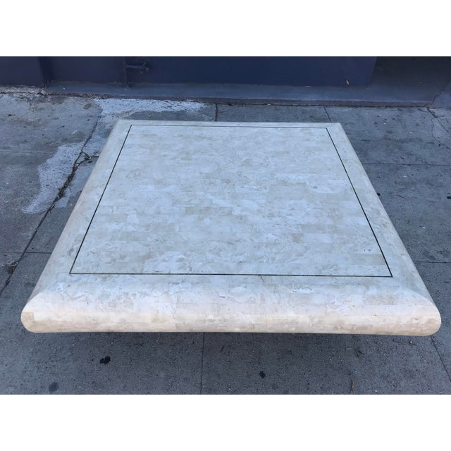 Art Deco 1980s Art Deco Maitland-Smith Tesselated Stone Coffee Table For Sale - Image 3 of 10