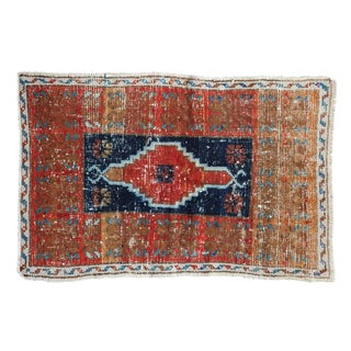 "Vintage Distressed Oushak Rug - 2'2"" X 3'3"" For Sale"