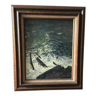 Oil on Canvas of the Ocean by Argentina Artist Segundo Aguirre Huertas