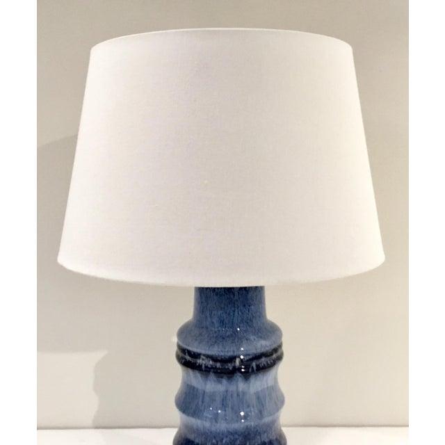 Modern Arteriors Modern Blue Glaze Ceramic Radcliff Table Lamp For Sale - Image 3 of 5