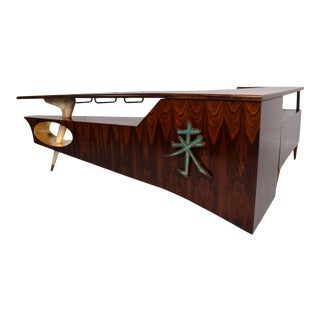 Sensational Frank Kyle & Pepe Mendoza Exotic Desk Dry Bar Mexico Modernism 1950s For Sale
