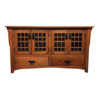 New Arts and Crafts Honeybee Furniture Oak Media Stand For Sale