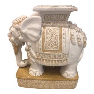 Vintage Garden Stand Stool Side Table Elephant For Sale