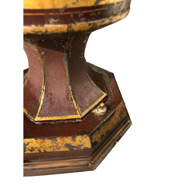 Early 19th Century Unique Early 19th C. English Tole Lamp For Sale - Image 10 of 12