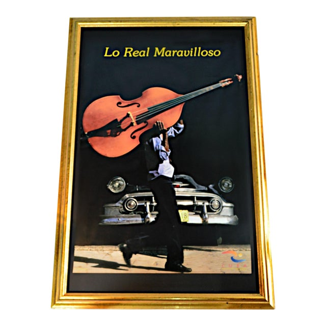 """""""Lo Real Maravilloso"""" Framed Cuban Poster For Sale"""